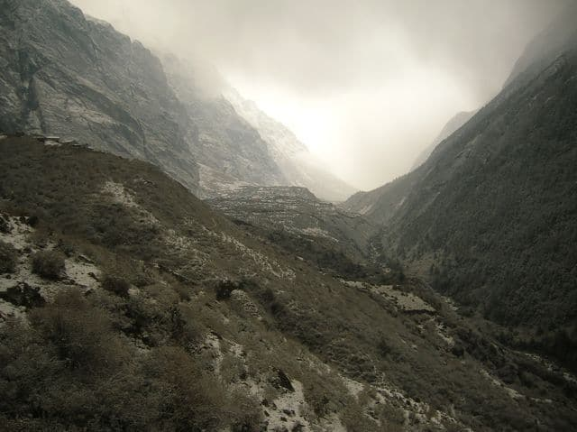 Snow in the Langtang Valley