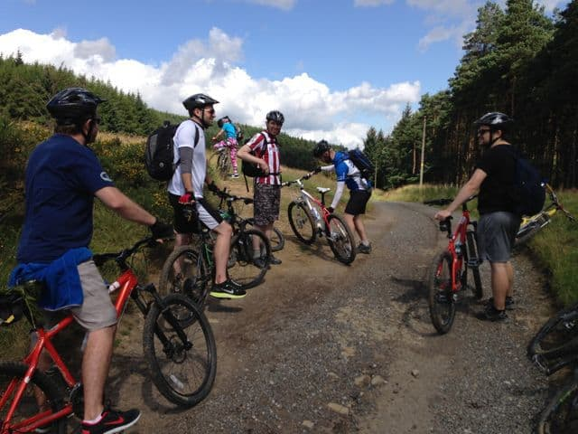 Stag do mountain biking Derbyshire