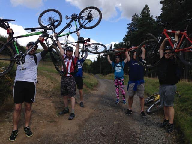 Stag do mountain biking Peak District