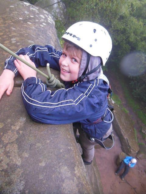 Student rock climber