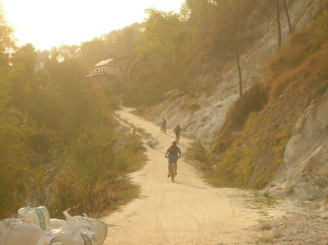 Sunset bike ride through the Kathmandu Valley