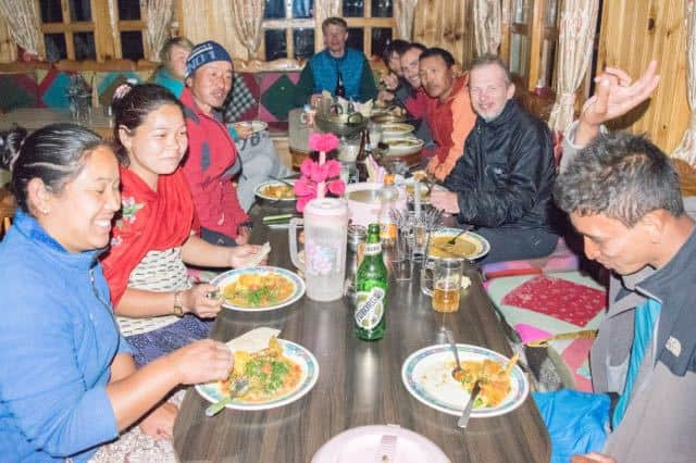 Tea-House-Manaslu-Circuit-Group-Dinner