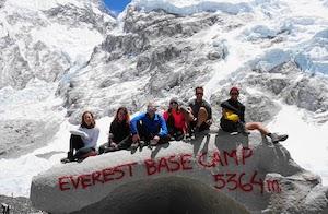 Team reach Everest Base Camp
