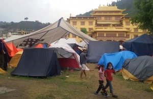 Temporary camp in Kathmandu