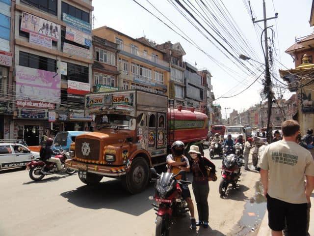 The streets of Kathmandu