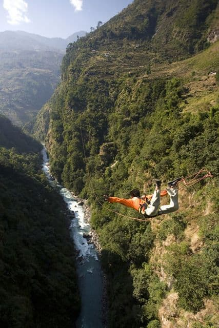Bungee jump, The Last Resort, Nepal