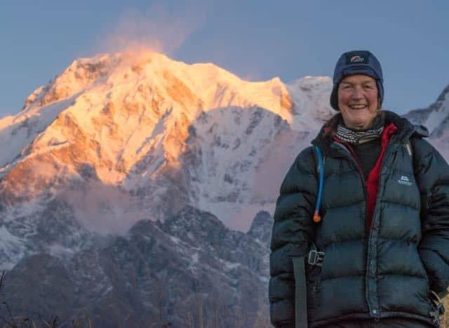 Trekker-and-Annapurna-South