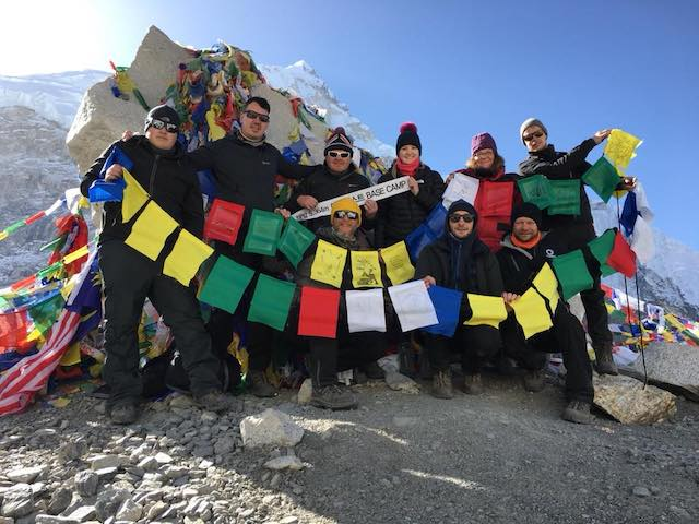Trekkers reach Everest Base Camp for charity