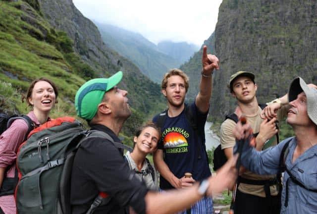 Trekking-Group-Having-Fun