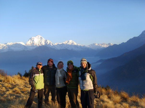 Trekking group at Poon Hill