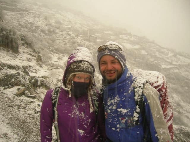 Trekking in the snow - Langtang Valley Nepal