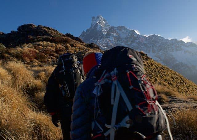 Trekking-on-Ridge-to-Mardi-Himal