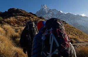 Trekking on Ridge to Mardi Himal