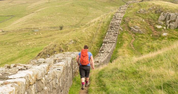 Walking along Hadrian's Wall
