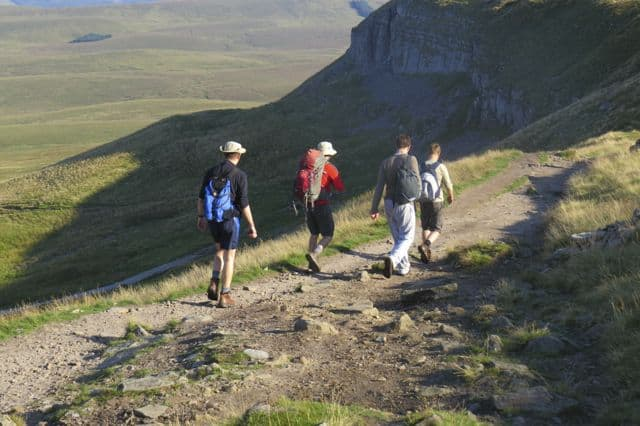 Walking down Pen Y Ghent