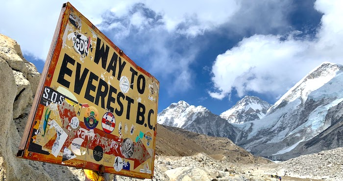 Training method to reach Everest Base Camp