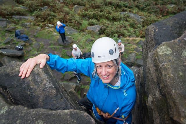 Woman-Top-Rope-Climbing-Scugdale