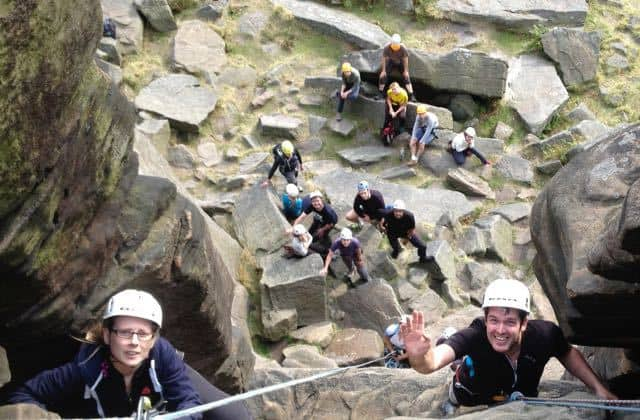 Youth-Group-Climbing-Day-Peak-District-Stanage