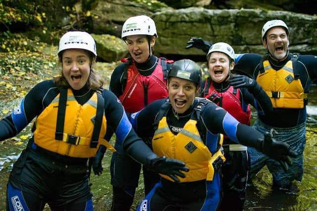 group-canyoning-yorkshire