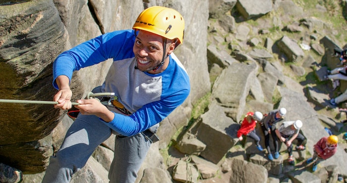 Rock Climbing on Multi Activity Day Peak District