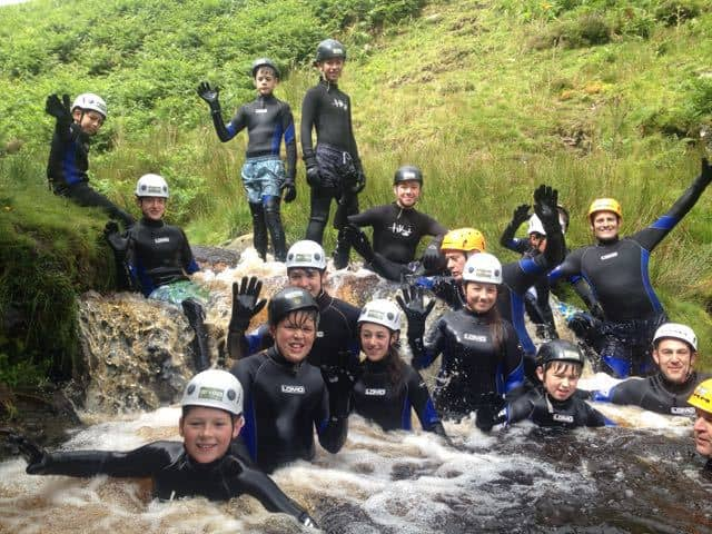 scout-group-gorge-walking